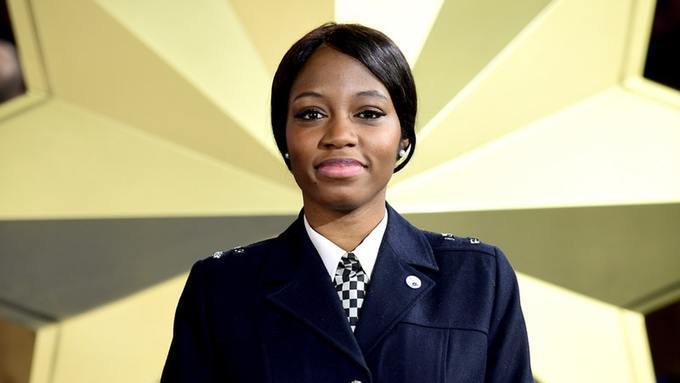BBNAIJA Khafi in her UK Police Uniform
