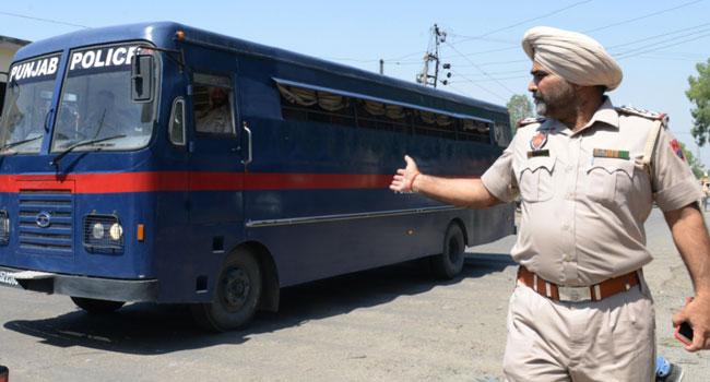 india-PUNJAB POLICE ESCORT
