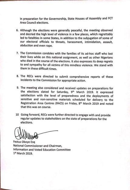 INEC RELEASE 2